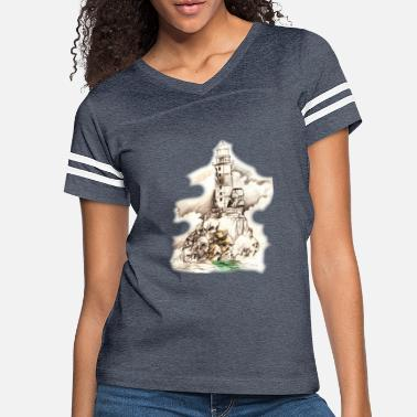 haunted lighthouse - Women's Vintage Sport T-Shirt