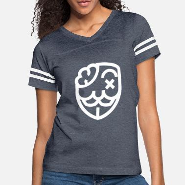 Government Anonymous Mask Illustration - Women's Vintage Sport T-Shirt