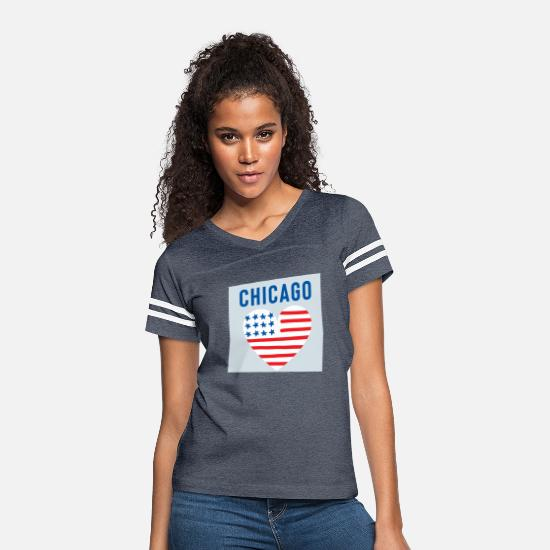 Heart T-Shirts - chicago - Women's Vintage Sport T-Shirt vintage navy/white
