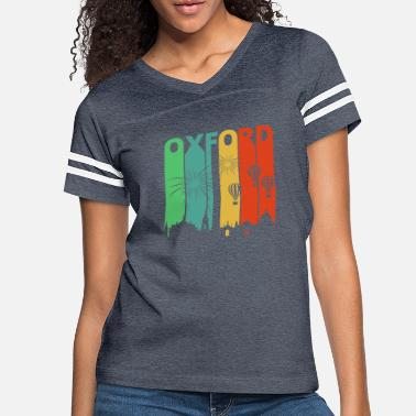 Oxfordshire Vintage Retro Oxford Skyline. Cityscape Gifts. - Women's Vintage Sport T-Shirt