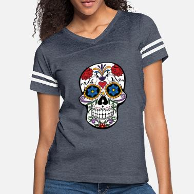 Mexican Damen T-Shirt Mexican Panda Sugar Rockabilly Devil Muertos