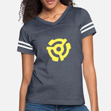 Record Vinyl 45 Adapter - Classic Yellow - Women's Vintage Sport T-Shirt