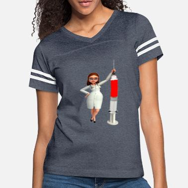 Needles Nurse With Needle - Women's Vintage Sport T-Shirt