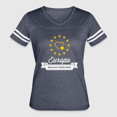Europe Needs More Heart! - Women's Vintage Sport T-Shirt
