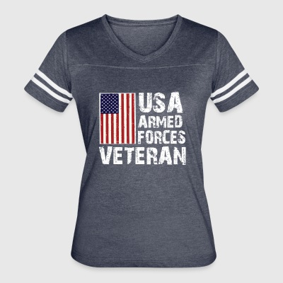 USA Armed Forces Veteran T-Shirt - Women's Vintage Sport T-Shirt