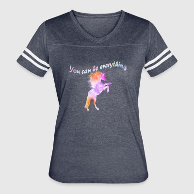 Can be everything Einhorn unicorn - Women's Vintage Sport T-Shirt