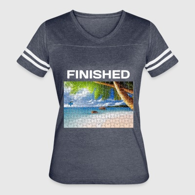 Beach Puzzle Finished - Women's Vintage Sport T-Shirt