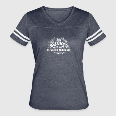 My Heart Belong To An Elevator Mechanic Shirt - Women's Vintage Sport T-Shirt