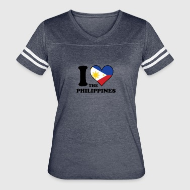 I Love the Philippines Filipino Flag Heart - Women's Vintage Sport T-Shirt