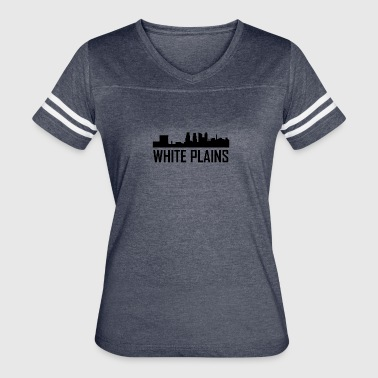 White Plains New York City Skyline - Women's Vintage Sport T-Shirt
