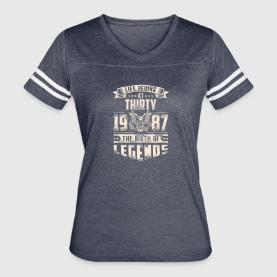 Life Begins at Thirty Legends 1987 for 2017 - Women's Vintage Sport T-Shirt