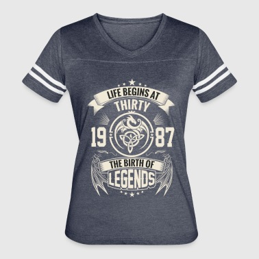 The Birth of Legends 1987 - Women's Vintage Sport T-Shirt