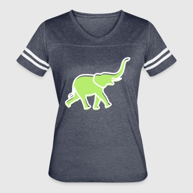 A Big Elephant With Trunk - Women's Vintage Sport T-Shirt