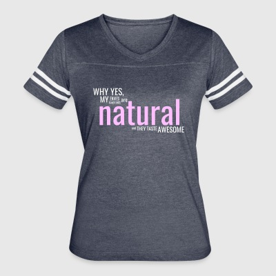 Edgy Natural White - Women's Vintage Sport T-Shirt