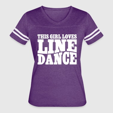 THIS GIRL LOVES LINE DANCE - Women's Vintage Sport T-Shirt