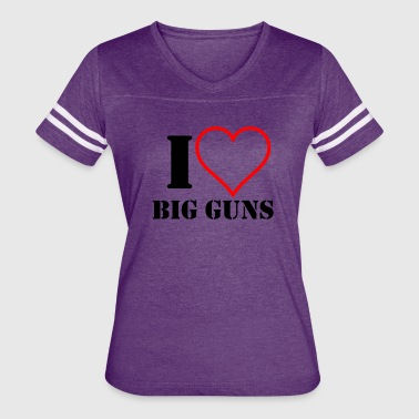 2a I Heart Big Guns - Women's Vintage Sport T-Shirt