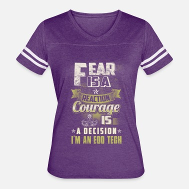 Eod Tech Eod Tech Fear Is A Reaction - Women's Vintage Sport T-Shirt