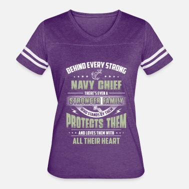 Navy Chief Behind Every Strong Navy Chief - Women's Vintage Sport T-Shirt