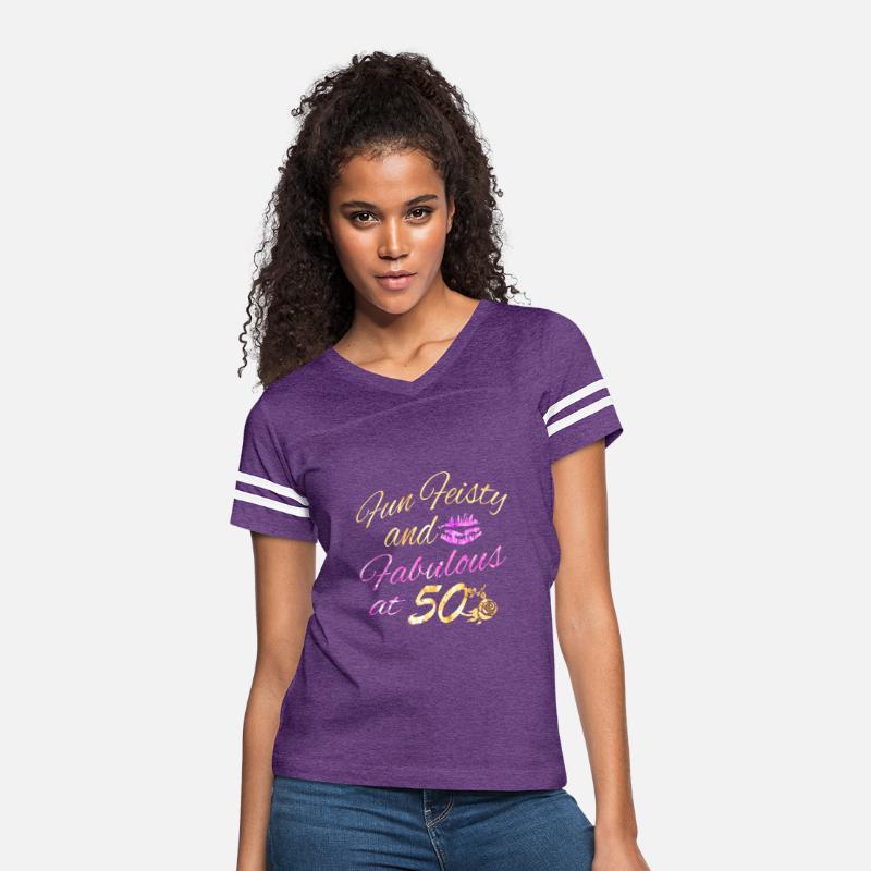 50th Birthday Designs Womens Vintage Sport T Shirt