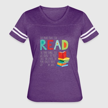 Reading Is Our Thing The more that you read - Women's Vintage Sport T-Shirt