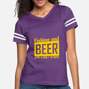 Beer And Fishing Awesome Fishing And Beer T Shirt - Women's Vintage Sport T-Shirt