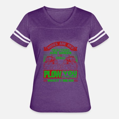 Red Farmer Farmer Roes Are Red Tractor Are Green Shirt - Women's Vintage Sport T-Shirt
