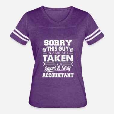 Sonographers Husband Sorry This Guy Is Taken By Accountant - Women's Vintage Sport T-Shirt
