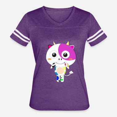 Colored Cow colorful cow - Women's Vintage Sport T-Shirt