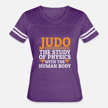 Human Body Judo - Study Of Physics With Human Body - Women's Vintage Sport T-Shirt