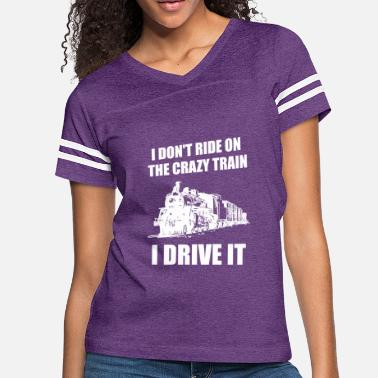 Train Driver Funny Steam Train Shirt Locomotive Driver Gift - Women's Vintage Sport T-Shirt