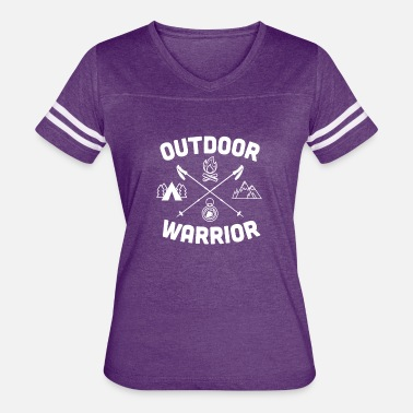 Outdoor Enthusiast Outdoor Warrior - Camping - Women's Vintage Sport T-Shirt