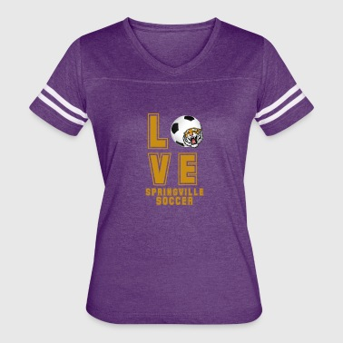 For The Love Of Soccer LOVE SOCCER - Women's Vintage Sport T-Shirt