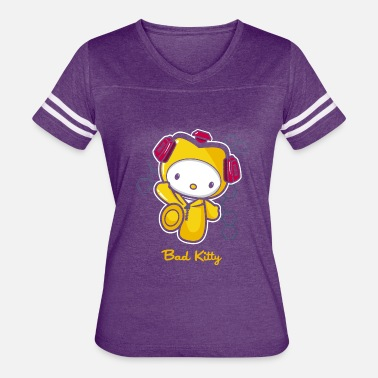 Bad Kitty Hello Bad Kitty - Women's Vintage Sport T-Shirt