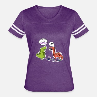 Brontosaurus Did you eat last Unicorn t-shirt. Funny Dinosaurs - Women's Vintage Sport T-Shirt