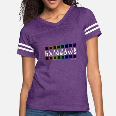 Kaskobi Fluent In Rainbows // Kaskobi - Women's Vintage Sport T-Shirt