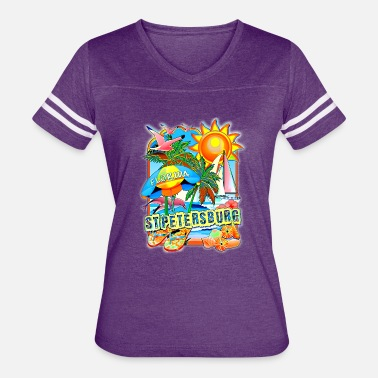 St. Petersburg St Petersburg Florida - Women's Vintage Sport T-Shirt