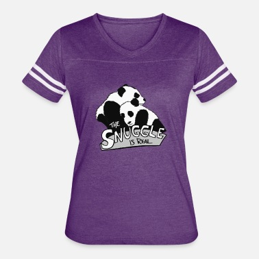 Remember Pandas Are Bears The Snuggle Is Real - Women's Vintage Sport T-Shirt