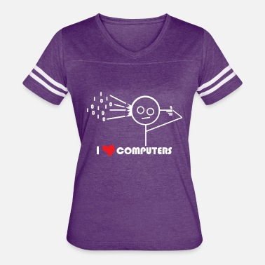 Computer Love I Love Computers - Women's Vintage Sport T-Shirt