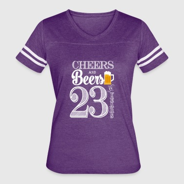 23 Year Cheers and Beers To 23 Years - Women's Vintage Sport T-Shirt
