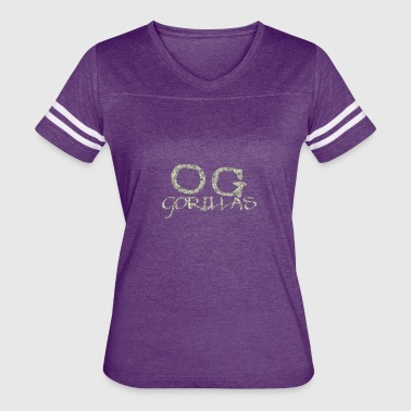 Gorillas Clothing OG Gorillas Logo Designed by OG Gorillas Clothing - Women's Vintage Sport T-Shirt