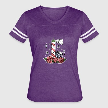 Lighthouse coast North Sea holiday gift - Women's Vintage Sport T-Shirt