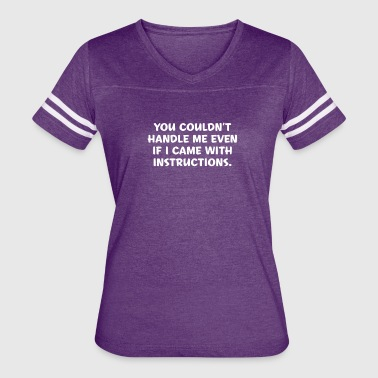 Instructions - Women's Vintage Sport T-Shirt