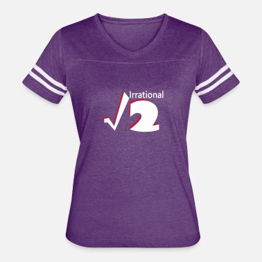 Irrational Numbers Irrational Numbers Mathematics - Women's Vintage Sport T-Shirt