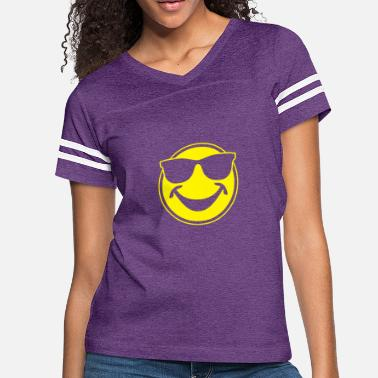 95daae216b8a COOL yellow SMILEY BRO with sunglasses - Women's Vintage Sport ...