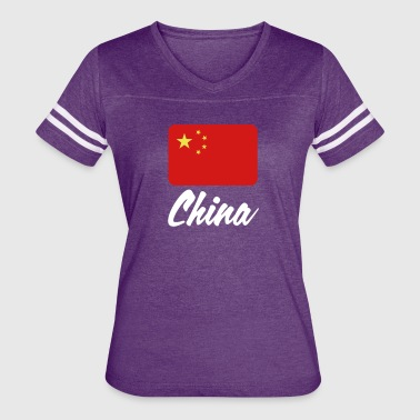 National Flags National Flag Of China - Women's Vintage Sport T-Shirt