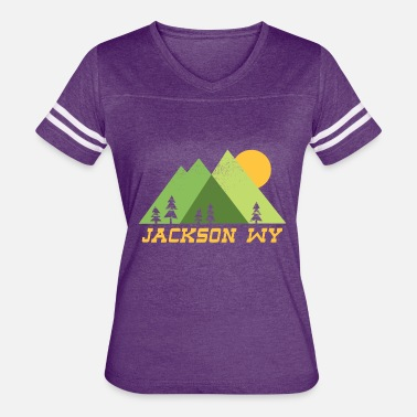 Jackson Hole Wyoming mountain sun JACKSON - Women's Vintage Sport T-Shirt