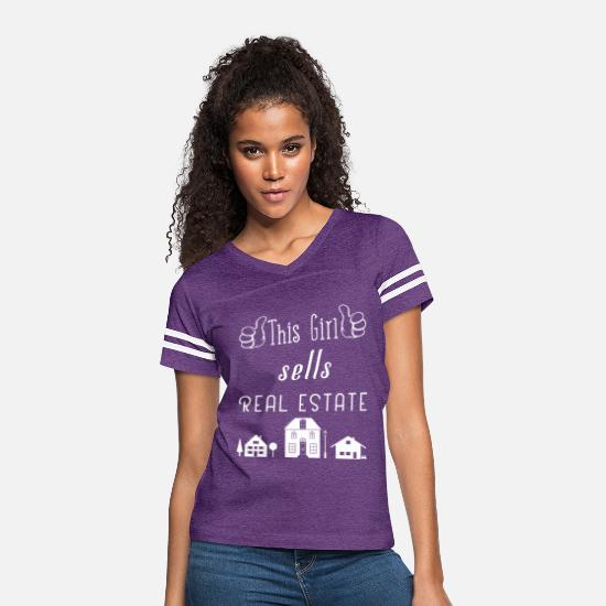 Real T-Shirts - This Girl Sells Real Estate for Property Managers - Women's Vintage Sport T-Shirt vintage purple/white