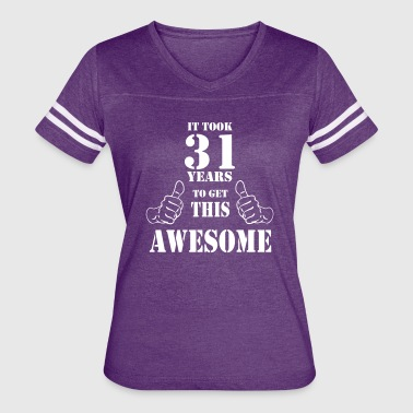 31st Birthday Get Awesome T Shirt Made in 1986 - Women's Vintage Sport T-Shirt
