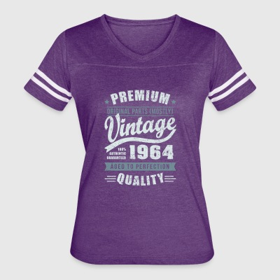 Birthday 1964 Aged to perfection - Women's Vintage Sport T-Shirt