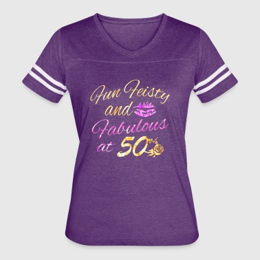 50th birthday designs - Women's Vintage Sport T-Shirt